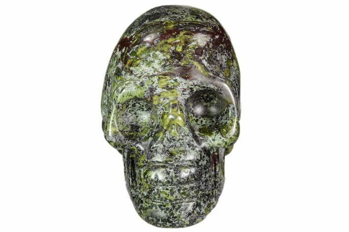 "1.9"" Polished Dragon's Blood Jasper Skull - South Africa"