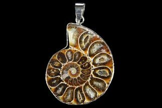 "1.4"" Fossil Ammonite Pendant - 110 Million Years Old For Sale, #112442"