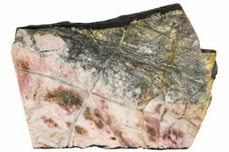 "5"" Polished Rhodonite Slab - Northern B.C. For Sale, #112718"
