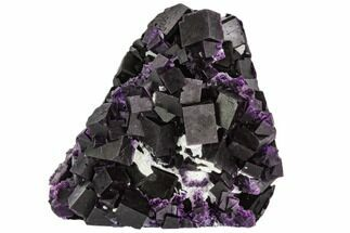 "3"" Dark Purple Cubic Fluorite Crystal Plate - China For Sale, #112616"