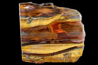 "Buy 4.2"" Polished Tiger's Eye Slab - South Africa - #113011"