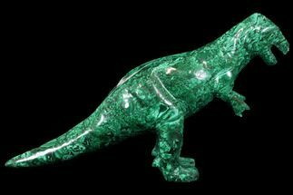 "11.2"" Polished Malachite Dinosaur Sculpture - Congo For Sale, #113390"