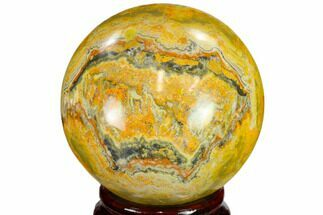 "Buy 2.45"" Polished Bumble Bee Jasper Sphere - Indonesia - #114790"