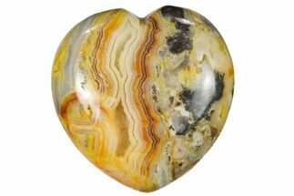 "Buy 1.6"" Polished Crazy Lace Agate Heart - #115441"