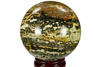 "3.8"" Unique Ocean Jasper Sphere - Madagascar For Sale, #115466"