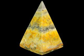 "2.7"" Polished Bumblebee Jasper Pyramid - Indonesia For Sale, #114998"
