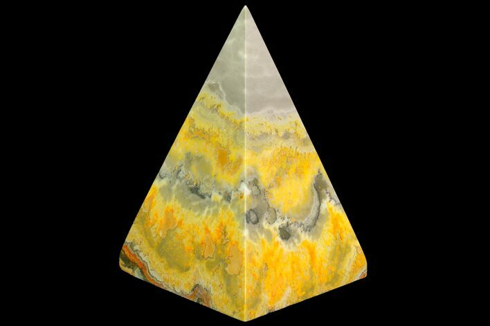 "2.9"" Polished Bumble Bee Jasper Pyramid - Indonesia"