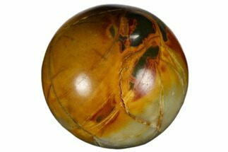 ".9"" Polished Cherry Creek jasper Sphere For Sale, #116255"