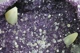 "8.4"" Amethyst ""Jewelry Box"" Geode With Calcite On Metal Stand - #116279-4"