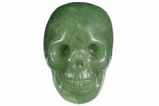 "Buy 2"" Realistic, Polished Green Aventurine Skull  - #116449"