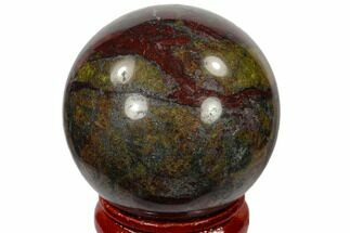 "1.6"" Polished Dragon's Blood Jasper Sphere - Australia For Sale, #116114"
