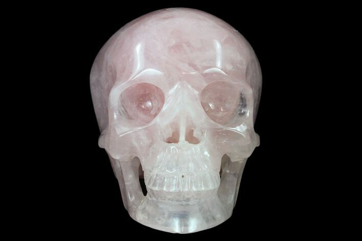 "5"" Polished Brazilian Rose Quartz Crystal Skull"