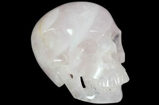 "Buy 5.1"" Polished Brazilian Rose Quartz Crystal Skull - #116695"