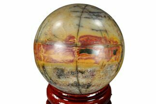 "Buy 1.55"" Polished Cherry Creek Jasper Sphere - China - #116212"