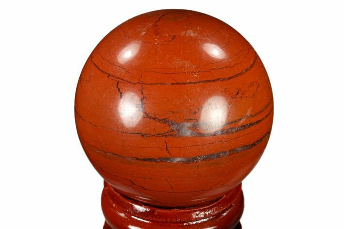"1.5"" Polished Red Jasper Sphere - Brazil"