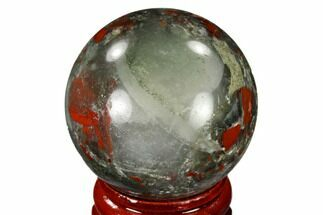 "Buy 1.55"" Polished Bloodstone (Heliotrope) Sphere - Africa - #116200"