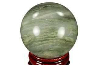 "Buy 1.55"" Polished Green Hair Jasper Sphere - China - #116233"