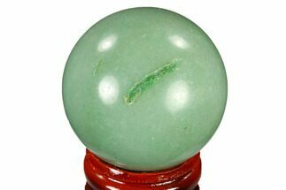 "1.6"" Polished Green Aventurine Sphere - China For Sale, #115997"