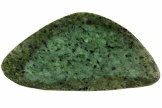 "7.2"" Polished Canadian Jade (Nephrite) Slab - British Colombia For Sale, #117635"