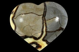 "6.4"" Polished, Heart-Shaped Septarian Dish - Madagascar For Sale, #117305"