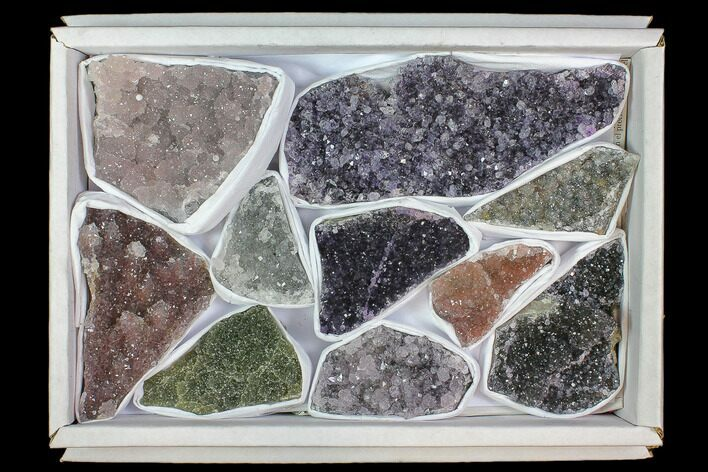 Lot: Druzy Amethyst/Quartz Clusters (10 Pieces)