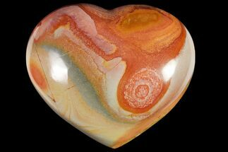 "Buy 4"" Wide, Polychrome Jasper Heart - Madagascar - #118648"