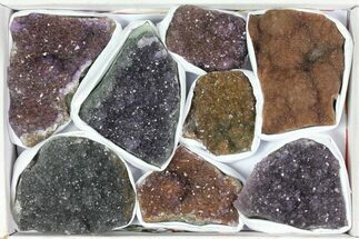 Wholesale Lot: Druzy Amethyst/Quartz Clusters (8 Pieces) For Sale, #119333
