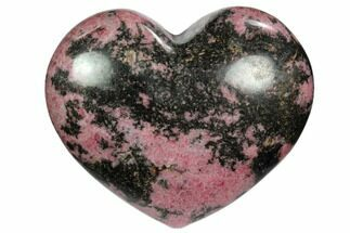 "Buy 3.9"" Polished Rhodonite Heart - Madagascar - #117358"