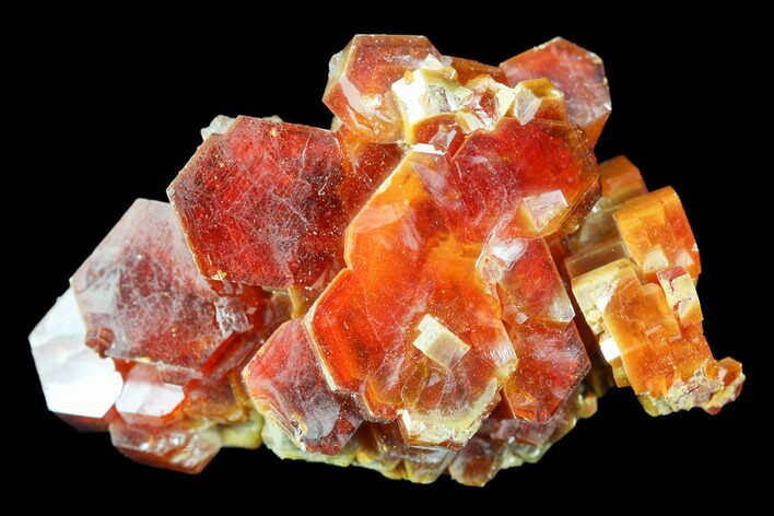 "1.3"" Red & Brown Vanadinite Crystal Cluster - Morocco"
