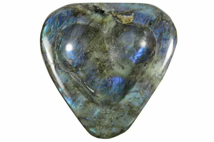 "6"" Flashy Labradorite Heart-Shaped Dish - Madagascar"