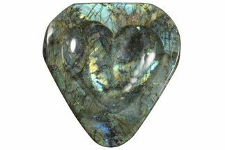 "Buy 6.5"" Flashy Labradorite Heart-Shaped Dish - Madagascar - #120736"