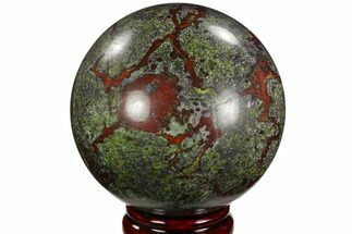 "3.9"" Polished Dragon's Blood Jasper Sphere - South Africa For Sale, #121571"