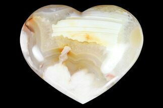"Buy 3"" Polished Flower Heart - Madagascar - #121774"