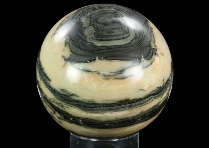"5.7"" Polished Peach & Grey Colored Sphere - Madagascar"