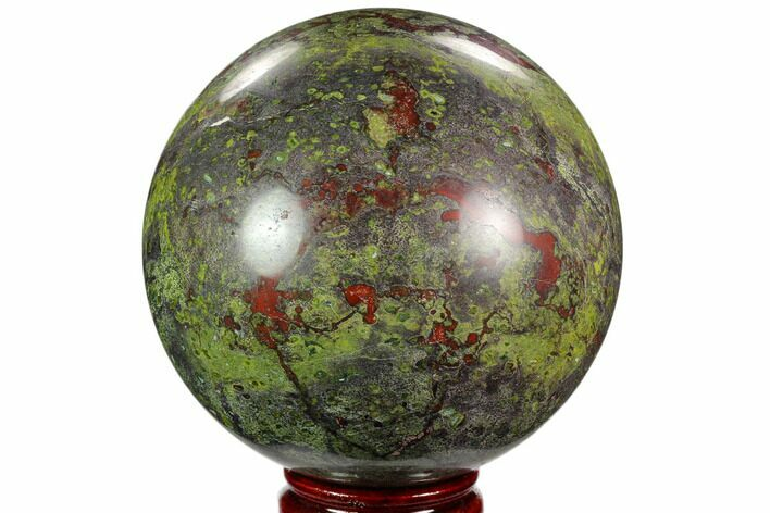 "4.7"" Polished Dragon's Blood Jasper Sphere - South Africa"