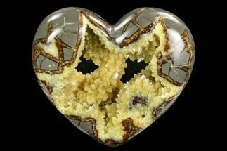 "Buy 4.85"" Polished Utah Septarian Heart - Beautiful Crystals - #123853"