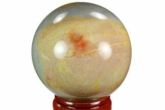 "Buy 1.9"" Polished Polychrome Jasper Sphere - Madagascar - #124126"
