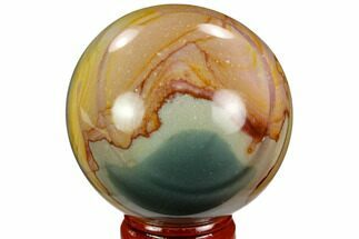 "2.2"" Polished Polychrome Jasper Sphere - Madagascar For Sale, #124130"
