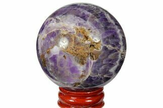 "2.15"" Polished Chevron Amethyst Sphere For Sale, #124487"