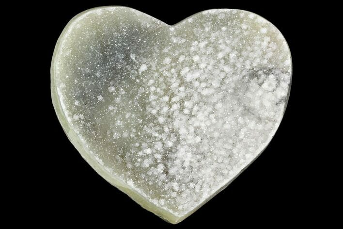 "4.7"" Prasiolite (Green Quartz) Crystal Heart - Uruguay"