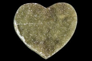 "Buy 2.3"" Green Quartz Heart - Uruguay - #123703"