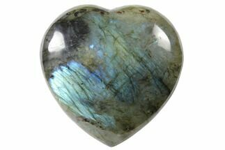 "Buy 3.4"" Flashy Polished Labradorite Heart - Madagascar - #126658"