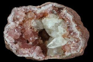 Quartz var. Pink Amethyst & Calcite - Fossils For Sale - #127308