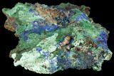"4.8"" Sparkling Azurite and Malachite Crystal Cluster - Morocco - #127521-1"