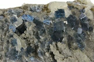 Fluorite, Calcite & Quartz - Fossils For Sale - #128571