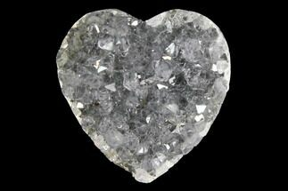 "1"" Quartz Crystal Cluster Heart - Uruguay For Sale, #128690"