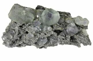 "2.6"" Green Fluorite with Purple Core on Sparkling Quartz - China For Sale, #128867"