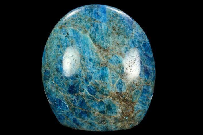"3.7"" Free-Standing, Polished Blue Apatite - Madagascar"