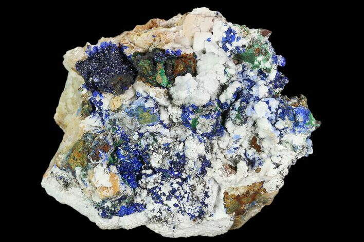 "2.7"" Sparkling Azurite and Malachite Crystal Cluster - Morocco"