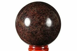 "2.5"" Polished Garnetite (Garnet) Sphere - Madagascar For Sale, #132047"